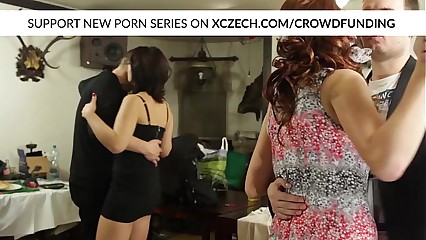 Wedding orgy with chubby girls who are hard fucked by big cocks