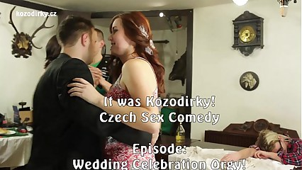 Hardcore Wedding Orgy Party with big cock