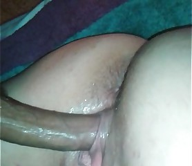 Quick creampie with the wife