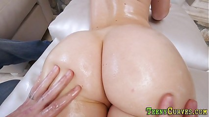 Teen with huge ass jizzed