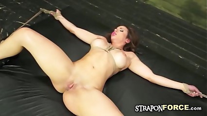 Excited Sweaty Slave gets tortured