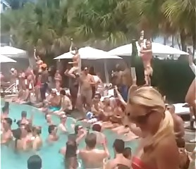 Hot pool party