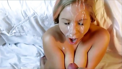 Blonde POV facial