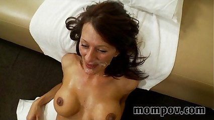 big tit milf fucks and sucks young cock