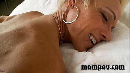 mature milf gets cumshot on her ass