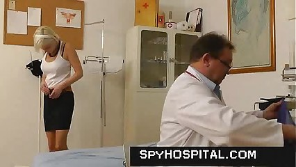Cute girl pussy caught on doctor hidden cam