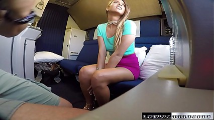 Public Sex on Trains girl meets guy and fucks on train