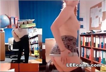 Nerd redhead masturbation