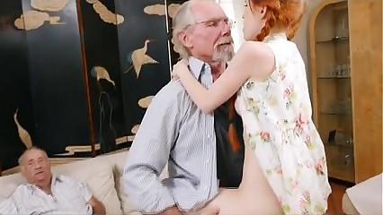 Raunchy Redhead Teen Dolly Little Taking On Old Dink