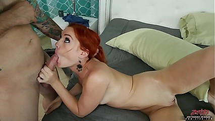 Small Tittied Redhead Banged