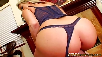 Femdom milfs in stockings riding and sucking