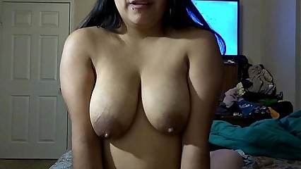 Riding daddy's cock while squeezing milk out my tits