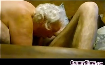 Thick Granny Riding On Her Lovers Cock