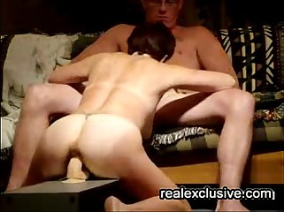 sucking hubby while riding my toy