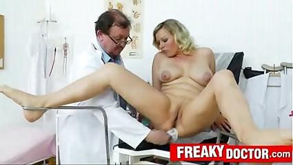 Big tits Katy gyno exam