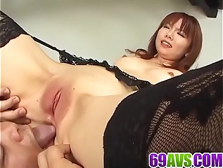 Creampie to end Himena Ebihara╥Сs crazy sex play