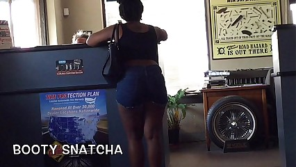 Big Chocolate Booty in Shorts