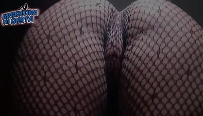 Fishnet Catsuit. Perfect Round Ass and Cameltoe