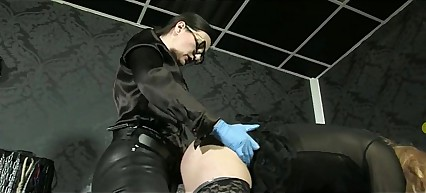 German Mistress strapon fucking slave #strapon