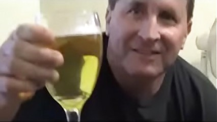 Demented Sissy Pervert Tom Pearl Drinks His Piss