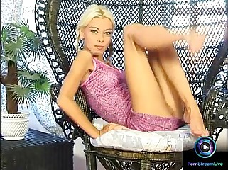 Petite Nikki Blond in pigtails spread and plays her slit