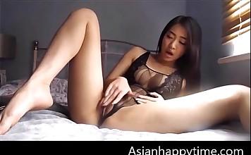 Cute Asian Girl Solo Masturbation With Toys