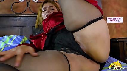 LatinChili Busty Mature Karina Solo Masturbation