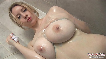 Busty Lilly Pink Soapy Antics