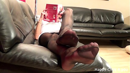 Mature stocking feetplay
