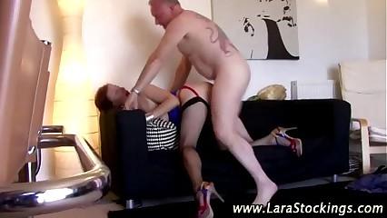 Mature classy stocking brit fucked