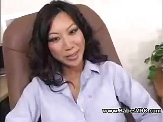Asian teacher double cocks
