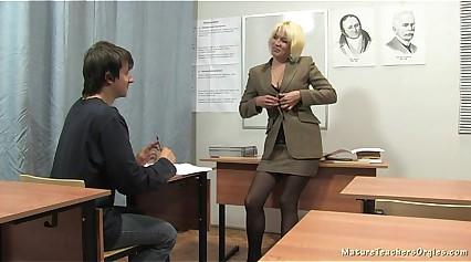 Russian mature teacher 2 - Nadezhda (mature teachers orgies)