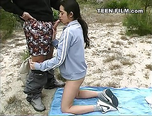 teen sucks stranger outdoor