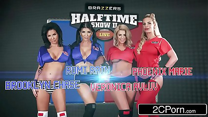 The Halftime Orgy - Brooklyn Chase, Phoenix Marie, Romi Rain, Veronica Avluv