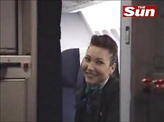 French stewardess strips part 2
