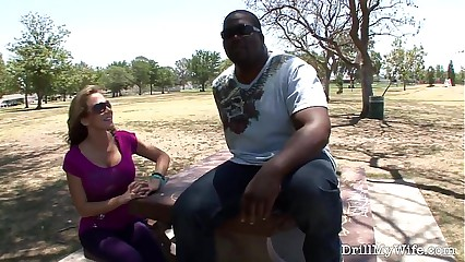Busty wife getting dicked by a stranger