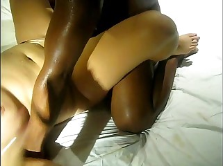 Big black dick fucks and cums in my wife's pussy