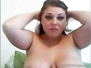 Sexy BBW teasing on webcam