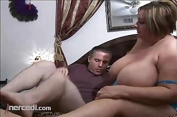 BBW Emma Has Her Tits Fucked, BBW Blowjob Cumshot Exclusive Hardcore Mature