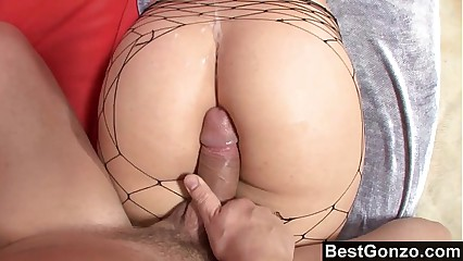 Big Fat White Ass Bounces During Intense Sex