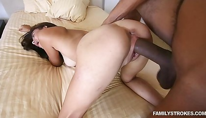 Step Bro fucks Michelle Martinez hard with his huge cock
