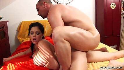 Young Shione gets big tits fucked