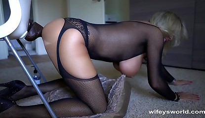 Wifey Gets Off Fantasizing About Big Black Cocks