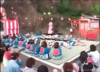 Strange Japanese sex festival - watch more at teenandmilfcams.com