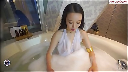 Dirty Hands Groping Big Tits Chinese Girl In The Bath