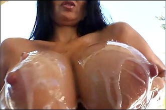 Oiled and Big Tits