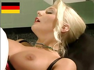 Blonde German Lady fucked by two Doctors