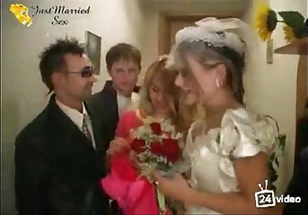Russian just married sex orgie