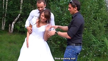 The bride fuck by three guy