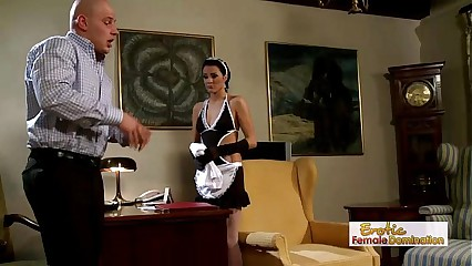 Dirty Babe Dressed Like A Maid Gets Rammed